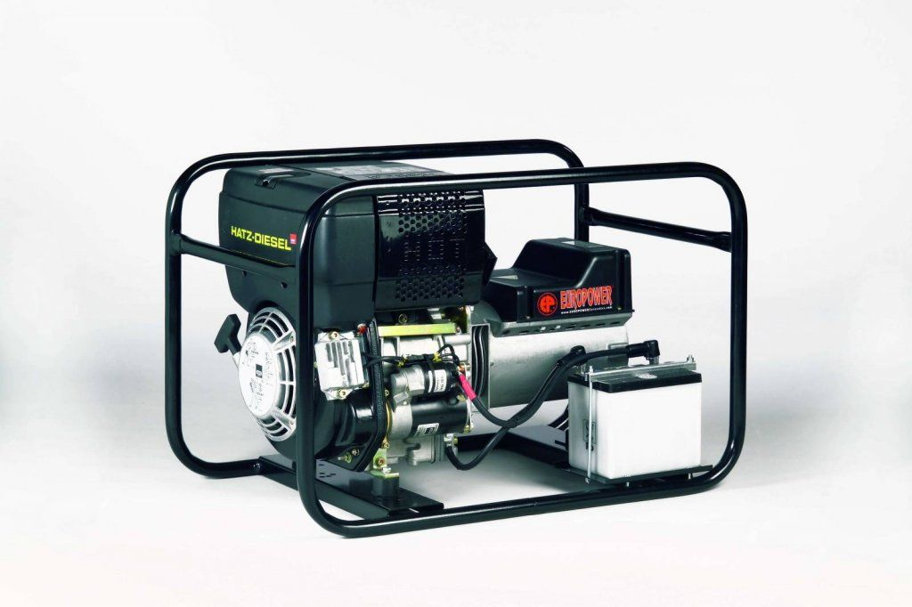 EP6000DE - Profesionální naftová elektrocentrála s výkonem 6 kVA, motor Hatz, elektrostart EUROPOWER