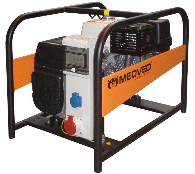 GR-9000 H - Profesionální 3-fázová elektrocentrála 9 kVA/400V MEDVĚD