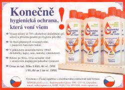 Hygienický gel na ruce 100ml s vůní 30ks v balení